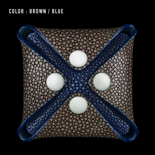 【剛腕】ガルーシャ製 コインケース / ブラウン&ブルー