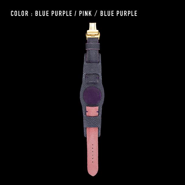 【剛腕】ガルーシャ製 ダブルストラップ / ブルーパープル & ピンク