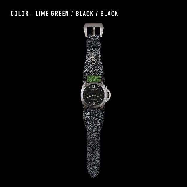 【剛腕】ガルーシャ製 ダブルストラップ / ライムグリーン&ブラック