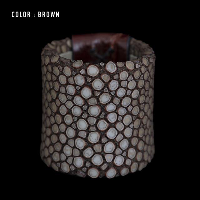 【剛腕】ガルーシャ&クロコダイル製 スカーフリング / ブラウン