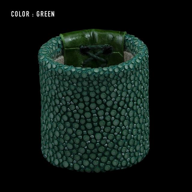 【剛腕】ガルーシャ&クロコダイル製 スカーフリング / グリーン
