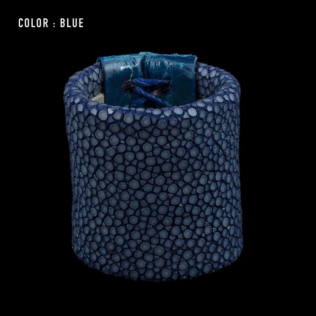 【剛腕】ガルーシャ&クロコダイル製 スカーフリング / ブルー