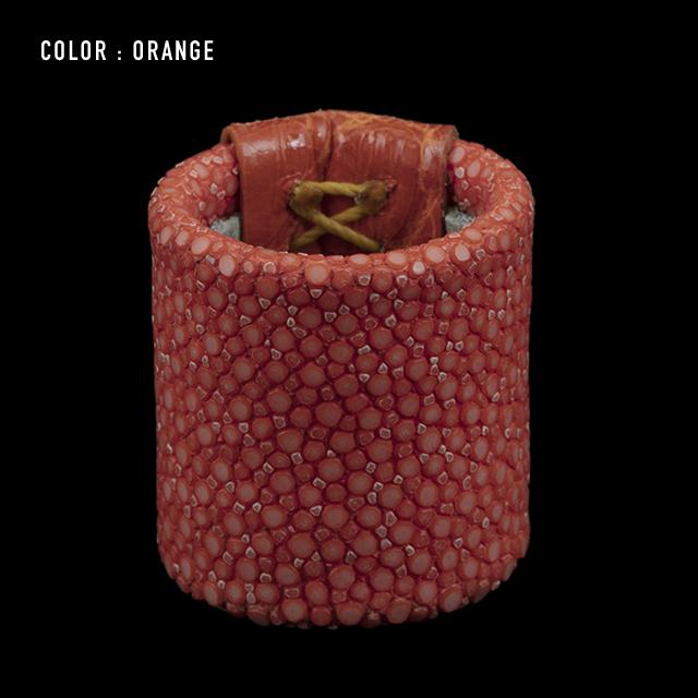 【剛腕】ガルーシャ&クロコダイル製 スカーフリング / オレンジ