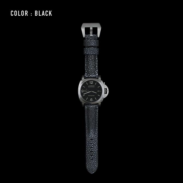 【剛腕】ガルーシャ製 シングルストラップ(PANERAI用) / ブラック