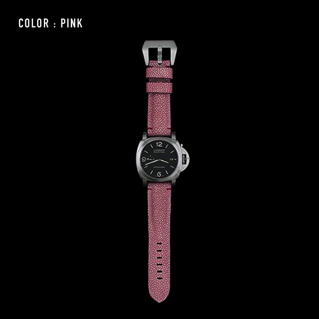 【剛腕】ガルーシャ製 シングルストラップ(PANERAI用) / ピンク