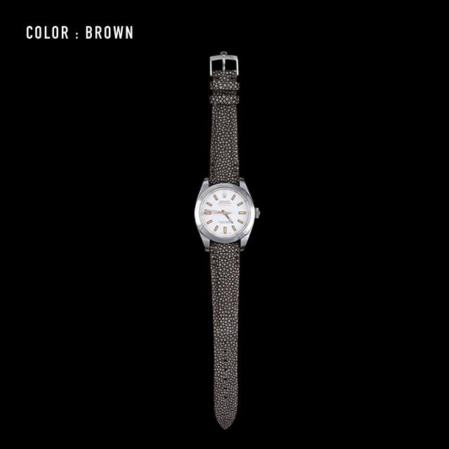 【剛腕】ガルーシャ製 シングルストラップ(ROLEX用) / ブラウン
