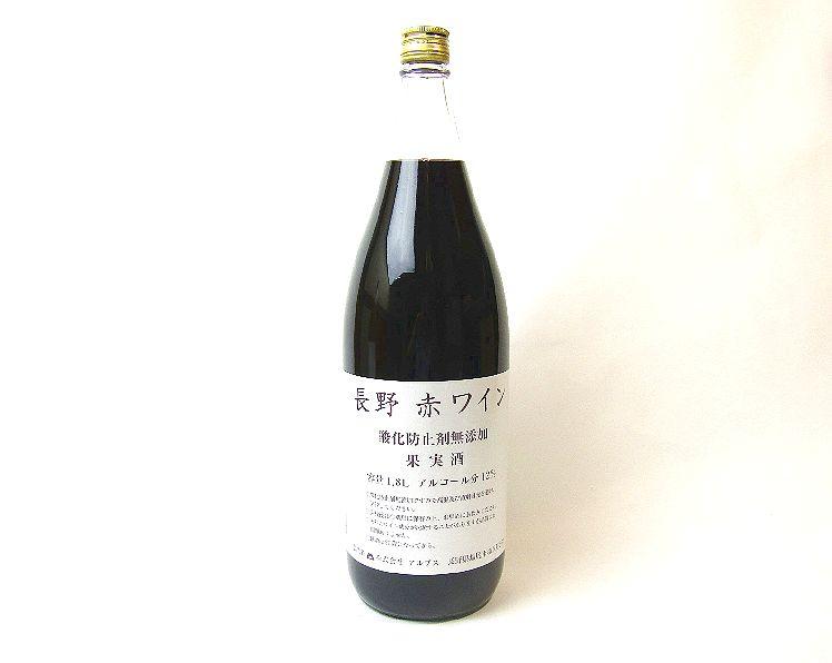 アルプスワイン長野無添加赤1800ml