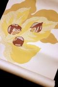 手描き友禅と刺繍の九寸名古屋帯