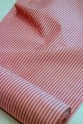 丹後木綿紅色地/白三本縞