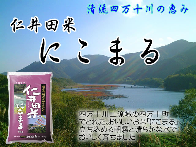 30年産 高知県産 仁井田米にこまる5kg