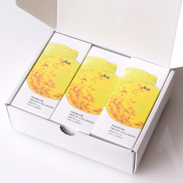 プレミアムフルーツコラーゲンゼリー 岡山県産ゆず&瀬戸内レモン 12本入x3P