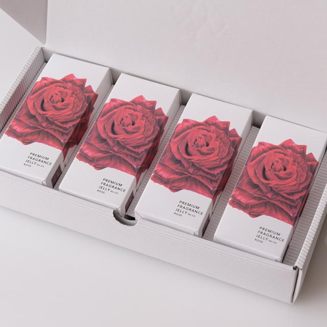 プレミアムフレグランスゼリー 広島県福山産薔薇 12本入x4P