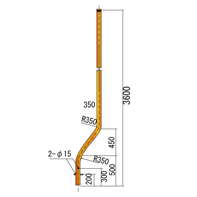曲支柱φ76.3×3.2×3600