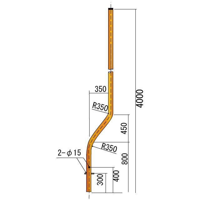 曲支柱φ76.3×3.2×4000