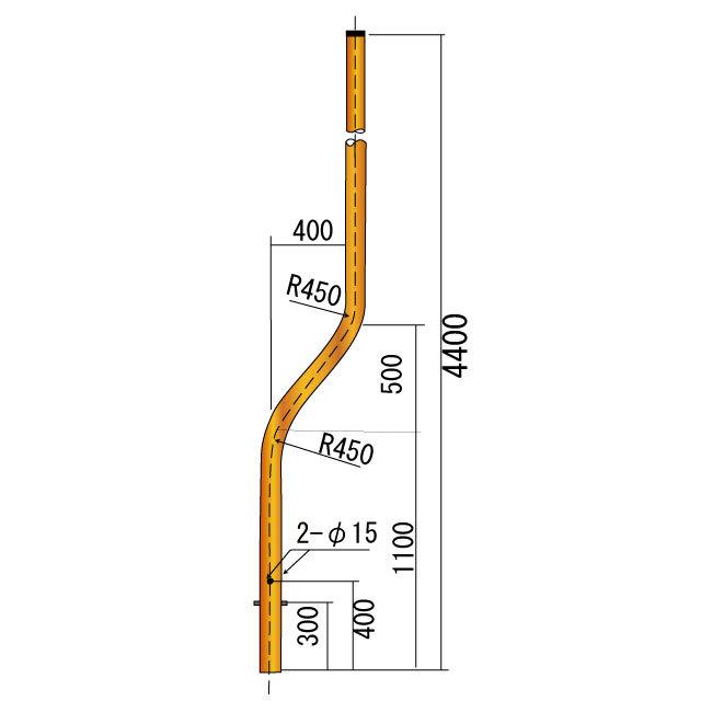 曲支柱φ89.1×3.2×4400