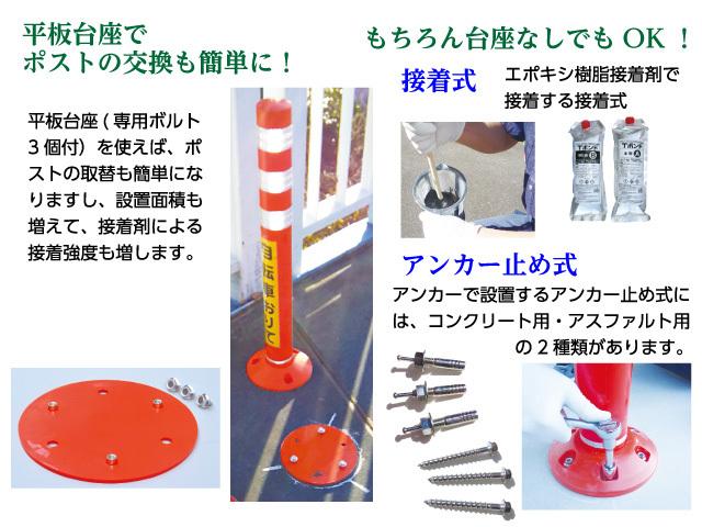 「PK-Ⅱ」 平板台座と設置方法