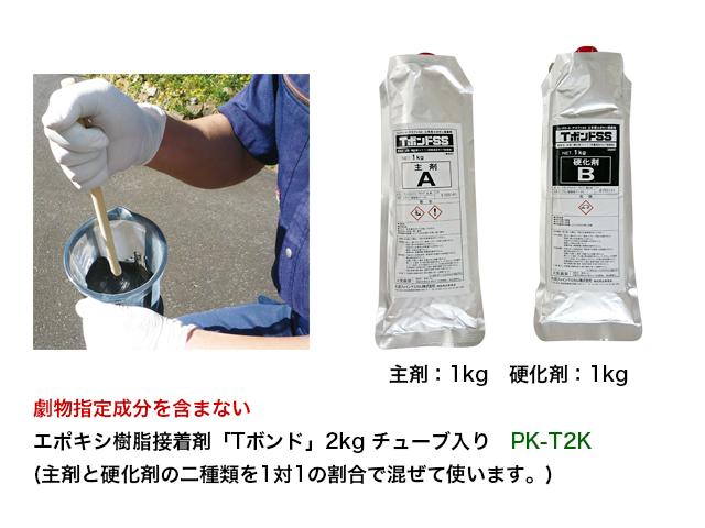 主剤と硬化剤を混ぜて使用します。