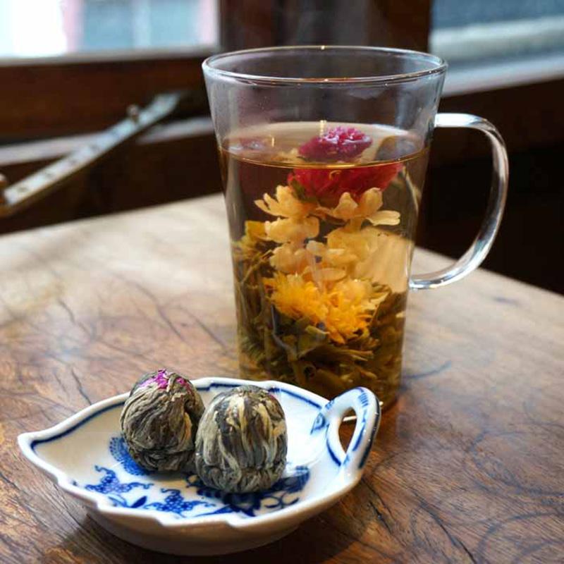 花-839A花籠造形茶2個入  はなかごぞうけいちゃ
