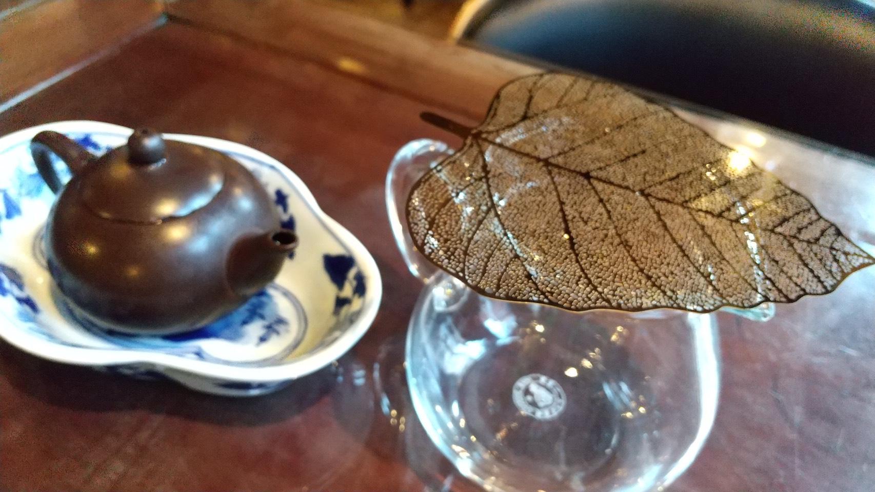 リーフ型茶こし ゴールド
