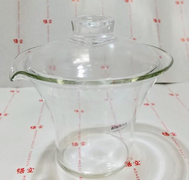 FUF-009ガラス蓋碗口付き/大 がいわんくちつき