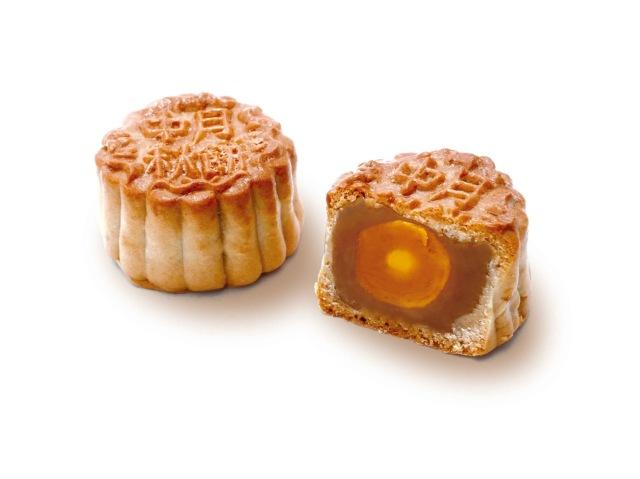 CH-03 蛋黄蓮蓉中月餅  塩卵黄身1ケ入りはすあんちゅうげっぺい
