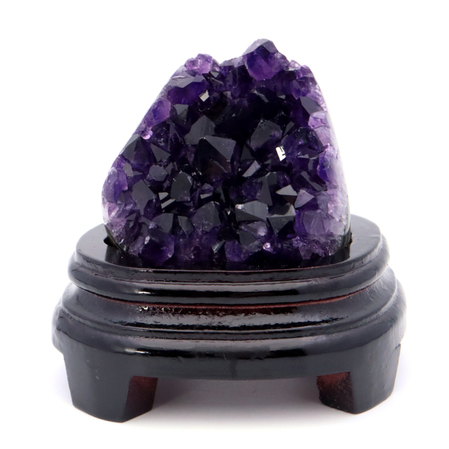 アメジスト クラスター 側面磨き 台座付き 紫水晶 置き物 原石ウルグアイ産 天然石 AAA 1点物 2月 誕生石