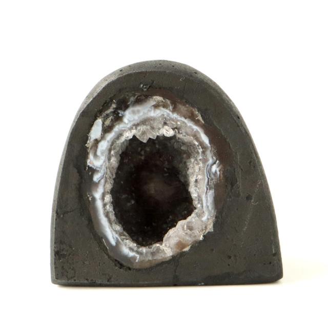 アゲート 水晶 ジオード ドーム 瑪瑙晶洞 天然石 パワーストーン 1点もの 置き物 手のひらサイズ