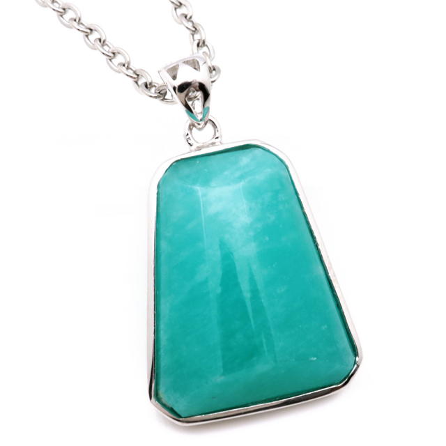 アマゾナイト ペンダント Silver925 天然石 ネックレス パワーストーン 天河石