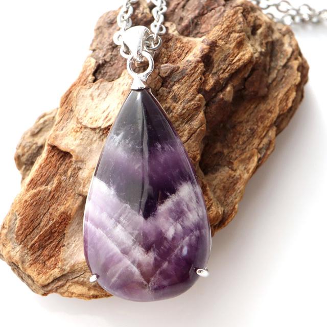 アメジスト ファントム ペンダント Silver925 1点物 紫水晶 天然石 パワーストーン