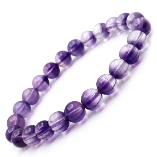 アメジストファントム ブレスレット 天然石 パワーストーン 2月 誕生石 8mm ウルグアイ産 ディープパープル 紫水晶