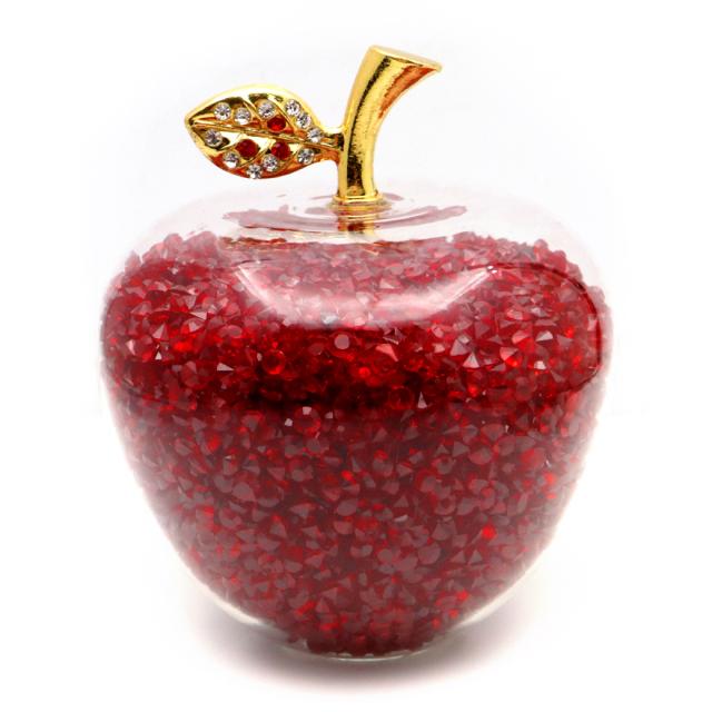 幸運のリンゴ 置き物 縁起物 林檎 アップル 箱付き 風水 幸福 幸運