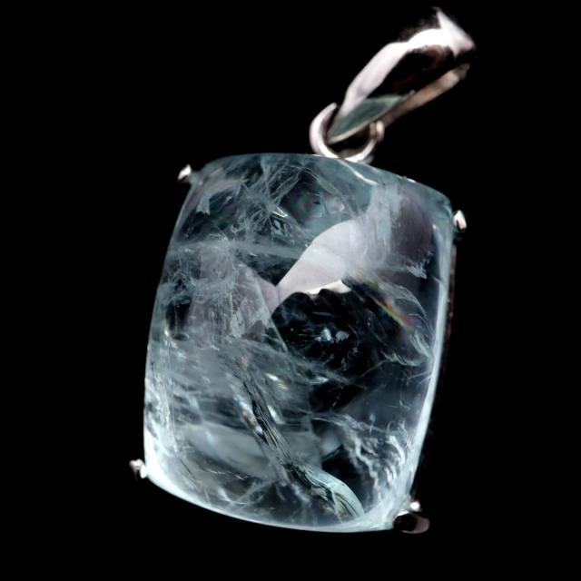 アクアマリン ペンダント 天然石 ネックレス AAA アフガニスタン産 Silver925 1点物 3月 誕生石 藍柱石 ベリル