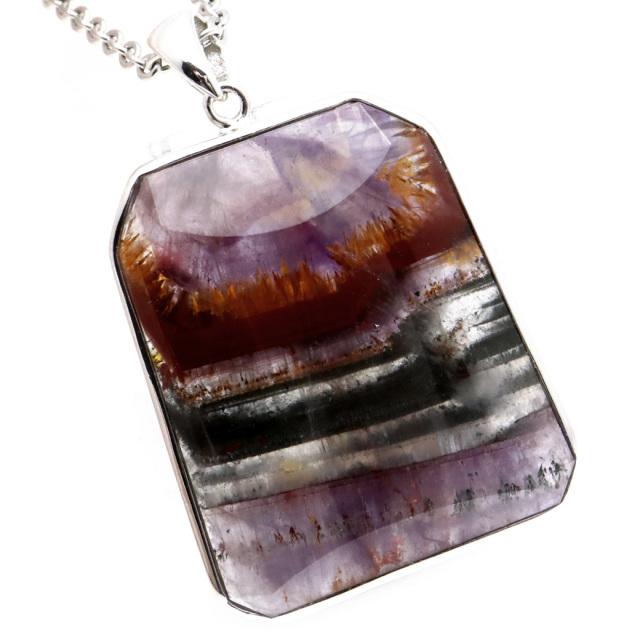 オーラライト23 ペンダント 天然石 ネックレス 鉱物がびっしり AAA Silver925 1点物