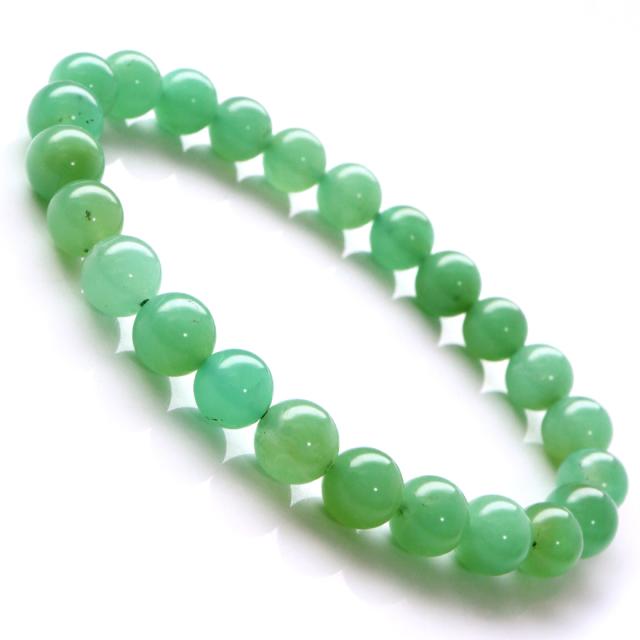 クリソプレーズ ブレスレット メンズ レディース アップルグリーン 緑玉髄 1点もの 天然石 パワーストーン