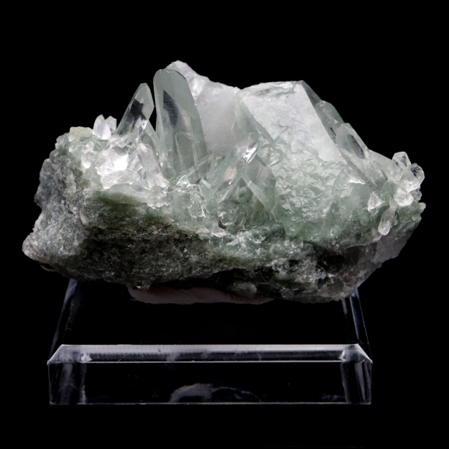 ヒマラヤ水晶 クラスター 台付き マニハール産 原石 天然石 1点物 パワーストーン