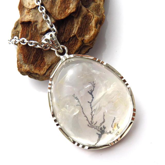 デンドリティック クォーツ ペンダント Silver925 自然の芸術
