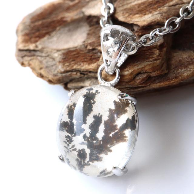 デンドリティック クォーツ ペンダント Silver925 自然の芸術 1点物 天然石 パワーストーン