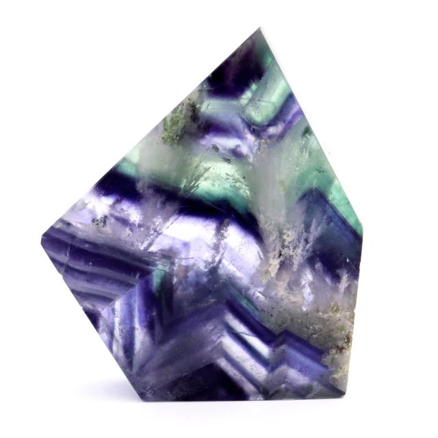 エンジェルフェザー フローライト 原石 スライス 38g 蛍石 天然石 1点物