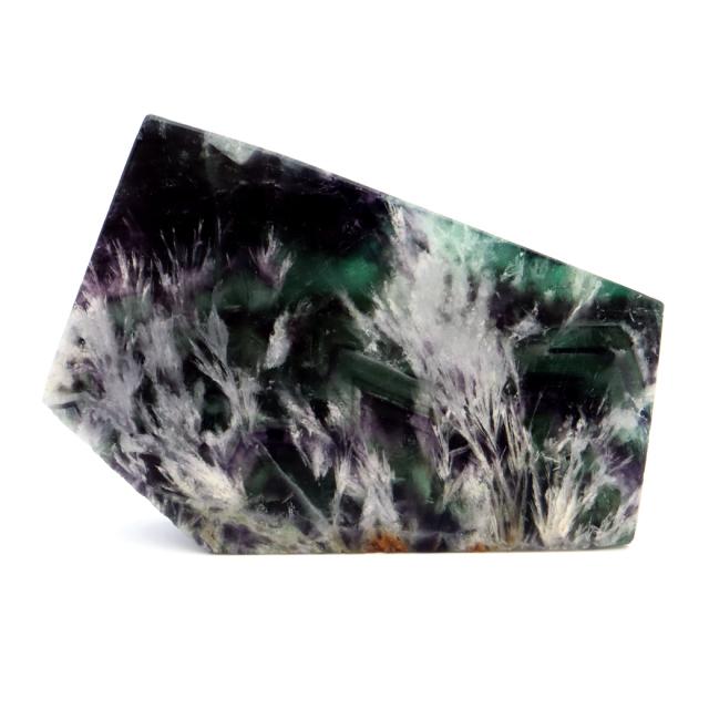 エンジェルフェザー フローライト 原石 スライス 61g 蛍石 天然石 1点物