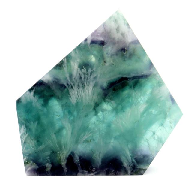 エンジェルフェザー フローライト 原石 スライス 43g 蛍石 天然石 1点物