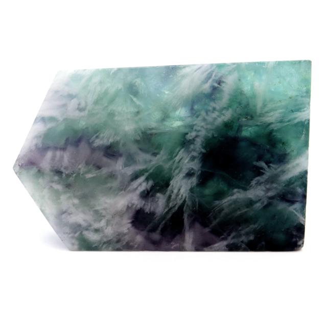 エンジェルフェザー フローライト 原石 スライス 56g 蛍石 天然石 1点物