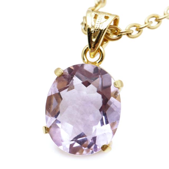 フローライト ペンダント 宝石質 パープル 紫 オーバル 天然石 ネックレス Silver925 1点物 蛍石