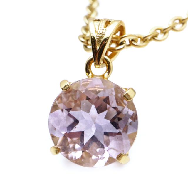 フローライト ペンダント 宝石質 パープル 紫 ラウンド 天然石 ネックレス Silver925 1点物 蛍石