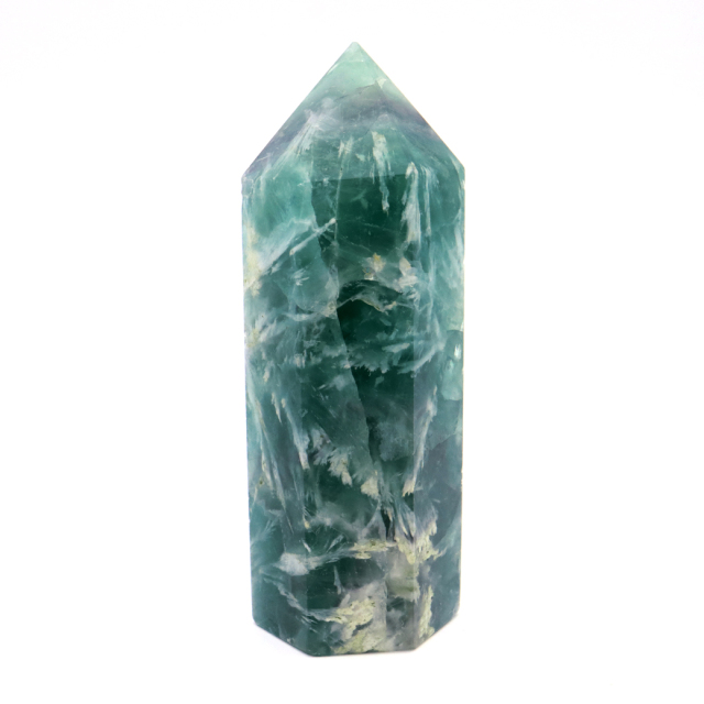 エンジェルフェザー フローライト 六角柱 ポイント 1点物 蛍石 天然石 敬老の日 プレゼント