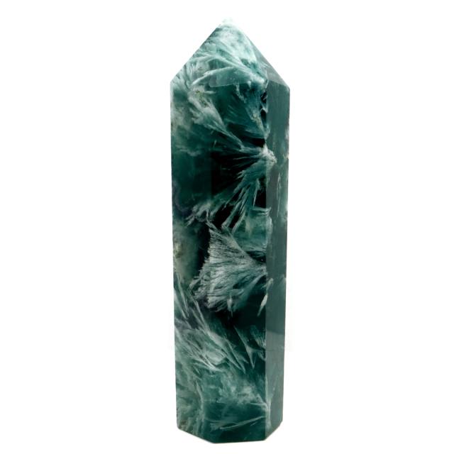 エンジェルフェザー フローライト 六角柱 ポイント 1点物 蛍石 天然石