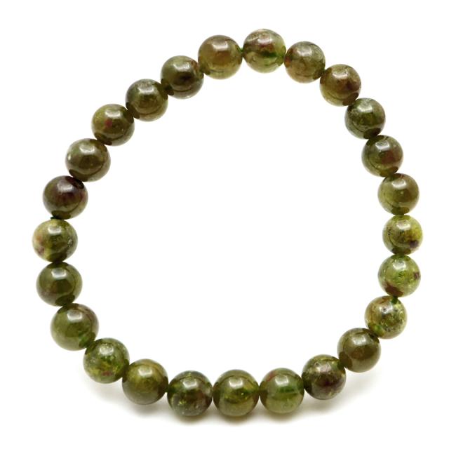 グリーン ガーネット ブレスレット 1点もの 天然石 1月 誕生石 柘榴石