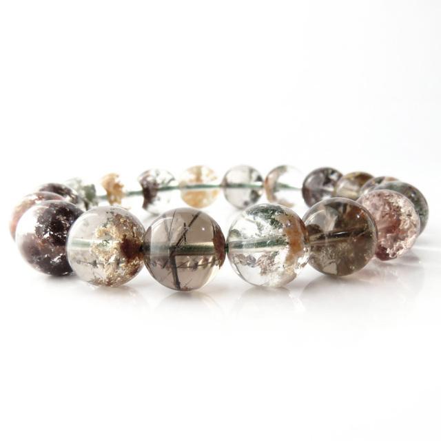 ガーデンクォーツ (庭園水晶) ブレスレット 1点もの パワーストーン 天然石