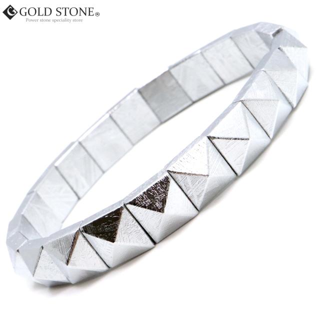 ギベオン 隕石 バングル ピラミッド ブレスレット 宇宙から来た鉱物 クリスマス プレゼント
