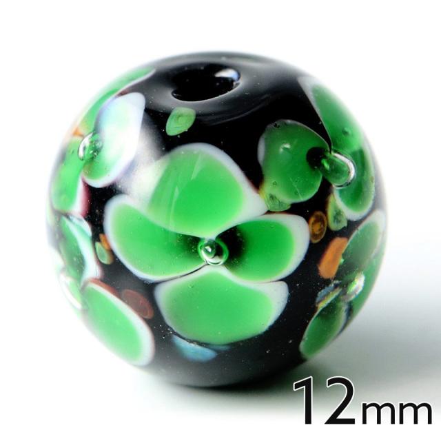とんぼ玉 ビーズ 粒売り 1粒 12mm 緑色 グリーン