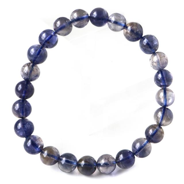 アイオライト ブレスレット インド産 菫青石 コーディエライト 1点物 天然石